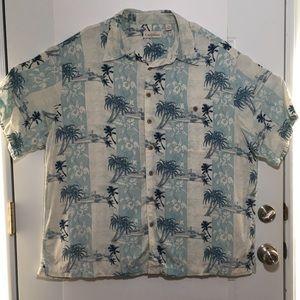 Other - Mens Hawaiian Caribbean Vacation Shirt SZ 2X Blue
